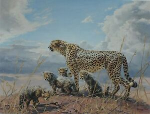 """DONALD GRANT. """"CHEETAHS FIRST OUTING"""" LIMITED EDITION PRINT"""