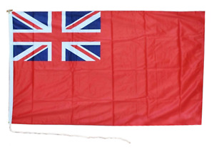 """Merchant Red Ensign 18"""" x 12"""" Heavy Duty Rope and Toggle Boat Flag"""