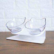 Transparent Cat Food Bowl With Holder Anti-slip Pet Water Dish Feeder Practical