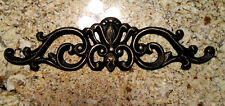 Metal, Topper, Pediment, Old World, Tuscan Kitchen Wall Plaque Cabinet hardware