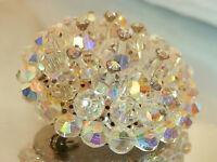 WOW Super Sparkling AB Crystal Rhinestone Brooch Vintage 60's Very Pretty 150jl7