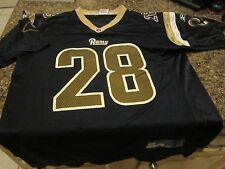 St Louis Rams Youth Jersey - Blue - Marshall Faulk - Youth Large - Reebok