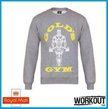 Golds Gym Crewneck Sweater Top Brand New Grey Gym Bodybuilding