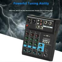4 Channel Audio Mixer USB bluetooth Stereo Mixing Console Home For Stage M2Z1