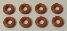 4 Pairs O-Ring Burnt Orange Silicone Tires for HO Slotcar TJets, Low Profile