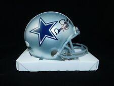 Daryl Moose Johnston Signed Dallas Cowboys Mini Helmet COA NFL JSA Witnessed