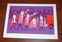 Josh Agle SHAG Art Print Shriner Band Parade 2007 Serigraph S/# 300 Shriners