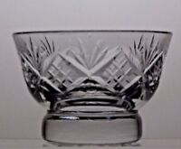 TUTBURY CUT GLASS LEAD CRYSTAL SUGAR BOWL