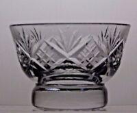 TUTBURY CUT GLASS LEAD CRYSTAL SUGAR BOWL