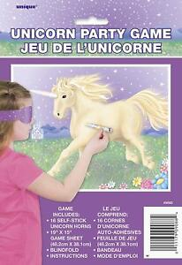 Pin The Tail Style Unicorn Party Game (Up to 16 people)
