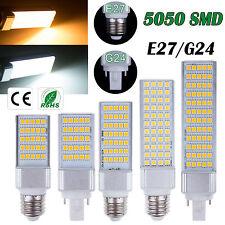 5050SMD 5W 7W 9W 11W 13W LED Lugar Maíz Horizontal Plug Ligero Downlight E27 G24