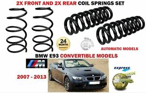 FOR BMW 320I M SPORT E93 CONVERTIBLE 2007-2013 2X FRONT 2X REAR COIL SPRINGS SET