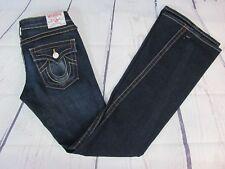 True Religion Jeans Womens Sz 27 (29 x 34) Joey Flare Dark Wash Style 10-503 EUC