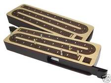 Continuous Wooden Cribbage Board - Sliding Lid 2 Tracks