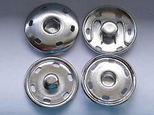 6 Stück große Druckknöpfe Knöpfe Druckknopf zum Annähen 30 mm silber NEUWARE