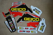 TEAM HONDA GEICO FACTORY CONNECTION  GRAPHICS 98 99  CR125 &  97 1998 1999 CR250