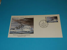 WWII FDC W13-1 HMS Georgetown Britain Russia * Destroyers for Bases * 50th Anniv