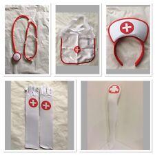 Sexy Fancy Nurse Set Headband Stethoscope Apron Stockings Gloves