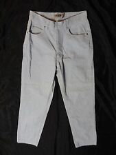 London Jean cotton blue mid rice wide leg barely boot cut jeans size 8