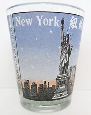 NEW YORK   VARIOUS NAME NATIONALITIES   SHORT SHOT GLASS