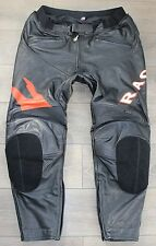 "Black Leather HEIN GERICKE Amour Racing Men's Jeans Pants Trousers Size W43"" L32"