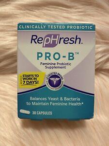 RepHresh Pro-b Probiotic Feminine Supplement 30 Count EXP 6/2022 Package Varies