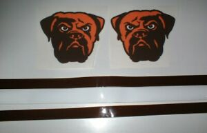 CLEVELAND BROWNS FULL SIZE FOOTBALL DECALS