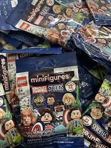 "LEGO Marvel Studios Minifigures (71031)  55 Sealed Packs ""Brand New"""