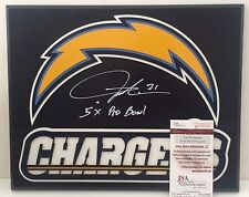 "Ladainian Tomlinson Signed Custom San Diego Chargers Plaque '5x Pro Bowl"" JSA"