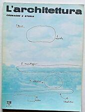 L'architettura cronache e storia n. 228 1974 Zevi Carlo Mollino Teatro Regio