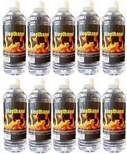 10 X 1 Liter BIOETHANOL für Deko-Kamin, Bio Ethanolkamin & Grillanzünder