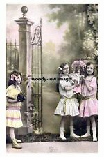 rp10532 - Young Girls their Doll - photograph 6x4
