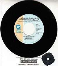 """ARLO GUTHRIE The City Of New Orleans 7"""" 45 rpm record + juke box title strip NEW"""