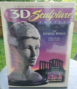 THE ETERNAL WOMAN - 3D Sculpture / Layer Puzzle Milton Bradley c.1996