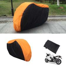 Orange Motorrad Abdeckplane Ganzgarage Faltgarage Rollerabdeckung Gr. L