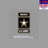 Army Medic Ranger U.S. Us U S 4 Stickers 4x4 Inch Sticker Decal