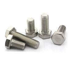 St@llion 10pcs M10x40mm A2 Stainless Steel Hex Hexagon Head Nut Bolts Threaded DIN 933