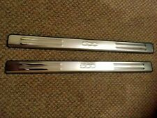 FIAT 500  2008 - 2019 STAINLESS DOOR SILL PLATES LOGO - YT- FT006