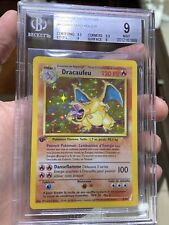 Charizard 1st Edition French Dracaufeu MINT 9 BGS Pokemon RARE