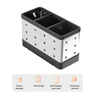 Tube Spoon Storage Box Rack Kitchen Cutlery Organizer Tableware Draining ONY