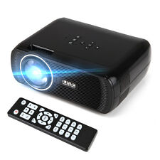 Black Portable 1080P 3D Projector Home Cinema Theater HD LED VGA USB SD AV HDMI