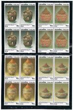 THAILAND 1993 Bangkok 1993 (Bencharong and Lai Nam Thong Wares) Block of 4