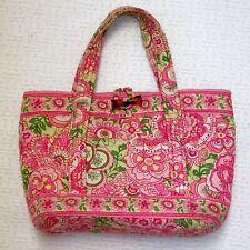 Vera Bradley Small Toggle Tote Purse Petal Pink Bag 2 Handles