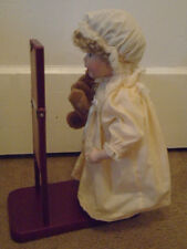 Adorable Porcelain Doll With Teddy Bear With Full Mirror and Stand