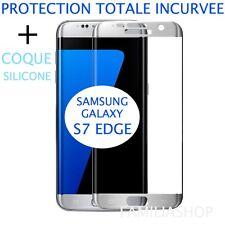 Film Gris Argent Samsung Galaxy S7 Edge 3d Bord Incurvé Intégral Total + Coque