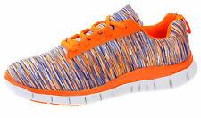 Herren Sneaker Sportschuhe Schnürer Freizeit Schuhe 18408 Orange 44