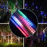 8 Tube Solar 144 LED Meteor Shower Lights Fall Rain Drop Lamp Tree String Light