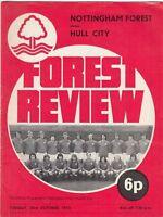 Nottingham Forest v Hull City 1973/4 (23 Oct)