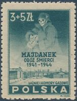 Stamp Germany Poland Sc B45 1946 Post WWII Majdanek Camp Commerative MNG