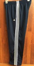 NR MINT Adidas M Blue WHITE Striped Basketball Soccer Sweat pants 28 - 40 x 30
